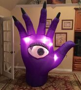 Gemmy Prototype Halloween Scary Hand Inflatable Airblown