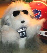 Buffalo Bills Gemmy Singing Dog Animated Stuffed Animal Football Fan Toy