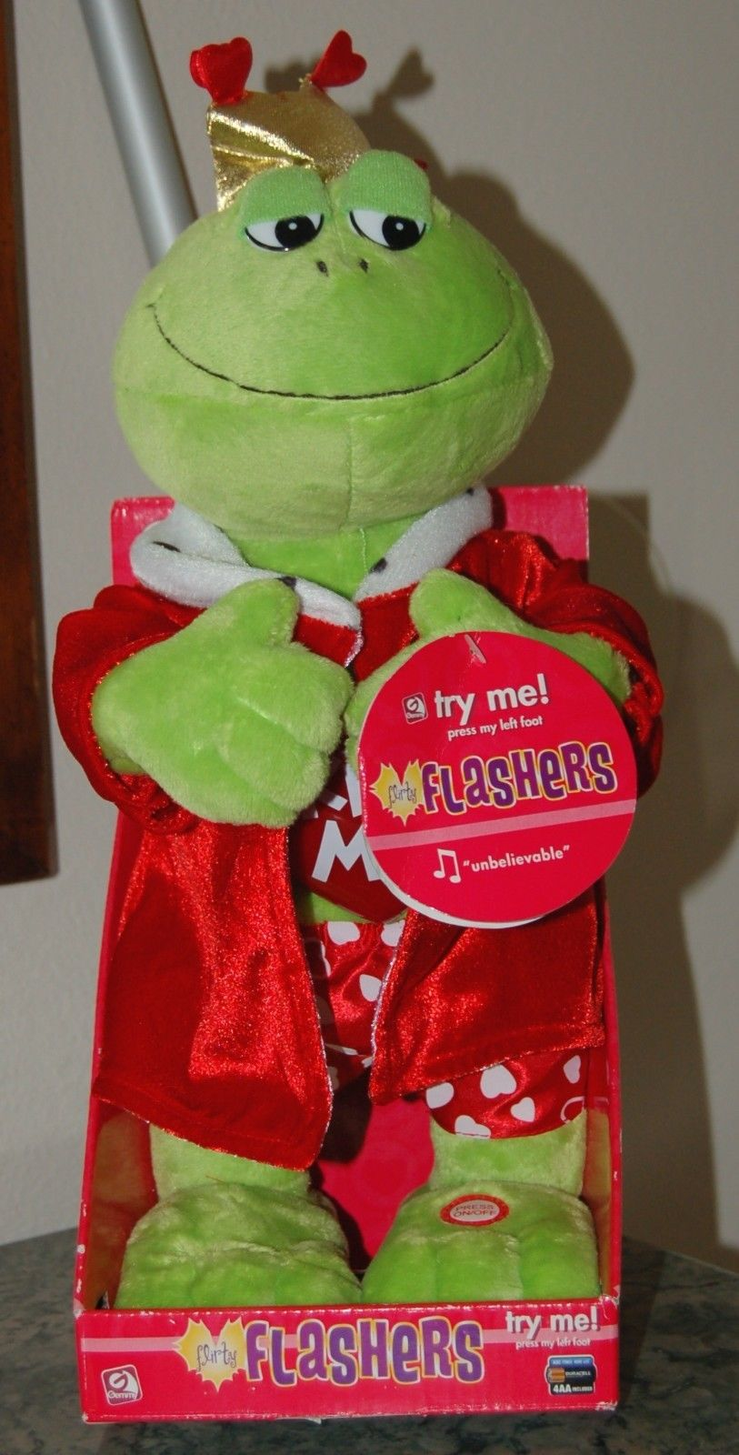 Valentine S Day Talking Toys : Flirty flashers gemmy wiki fandom powered by wikia
