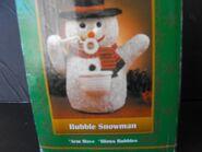 Vintage Gemmy Bubble Blowing Table Top Snowman 5