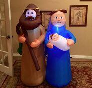Gemmy Prototype Christmas Nativity Scene Inflatable Airblown