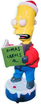 Animated Caroling Bart Simpson