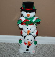 Gemmy JOLLY JINGLERS Lighted Musical Plush Snowmen 2004 With Tag