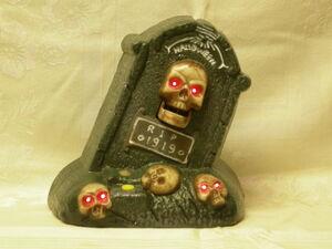 Gemmy 1997 animated Halloween howlin' tombstone 4