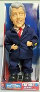 RARE SINGING,MOUTH MOVES, DANCING PRESIDENT CLINTON MOTIONETTE-MIB-RITE AID ONLY