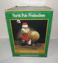 GEMMY North Pole Productions 1995 Animated Santa At His Globe 5