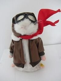 VERY RARE GEMMY INDUSTRIES DANCING HAMSTER SINGING ''THE BLOODY RED BARON''