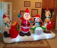 Gemmy Prototype Christmas The Holly Days Band Inflatable Airblown