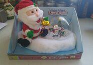 Gemmy plush friend snow globe santa claus plays holiday music