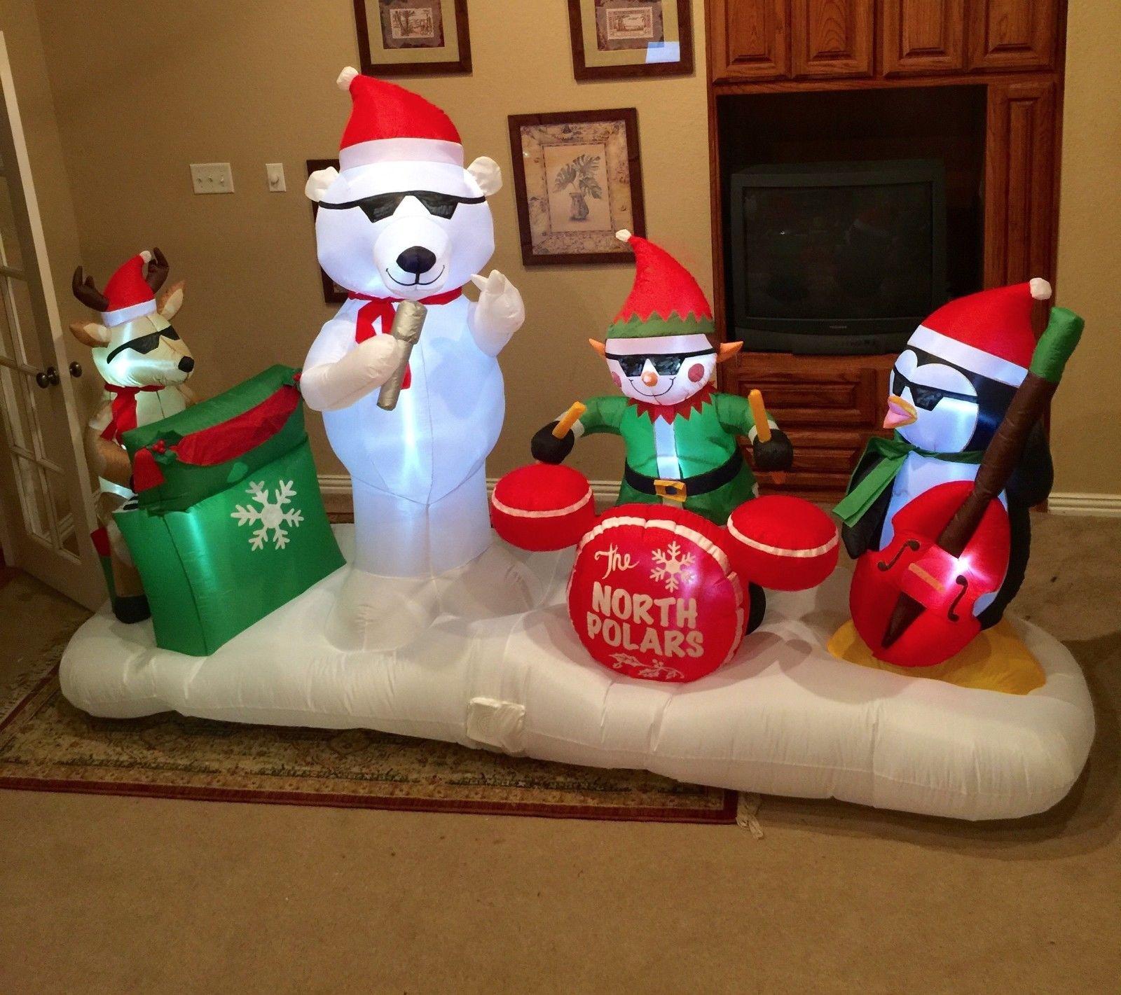 Image - Gemmy Prototype Christmas North Polars Band Inflatable ...