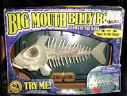 BIG MOUTH BILLY BONES MOTION ACTIVATED SINGING FISH Halloween GLOW IN THE DARK