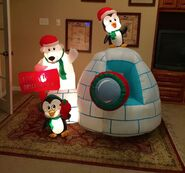 Gemmy Prototype Christmas Snowball Cannon Inflatable Airblown