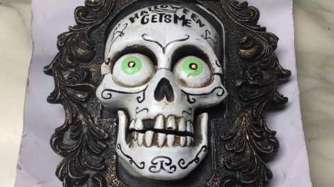 Gemmy Unreleased Prototype - ''Halloween Gets Me Unhinged'' - Day of the Dead Sugar Skull