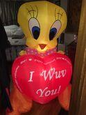NIB HUGE RARE valentines Tweety Bird AIRBLOWN Inflatable Gemmy