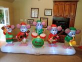 Gemmy inflatable Christmas mouse band
