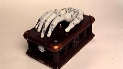 Gemmy Skeleton Hand On Coffin