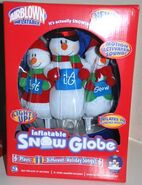 Rare INFLATABLE Table Top MUSICAL SNOW GLOBE Motion Activated Plays 11 Songs