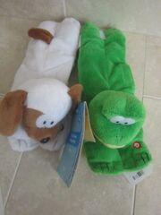 Gemmy Talk Back Wrist Pets Dog and Frog---Wraps around wrist