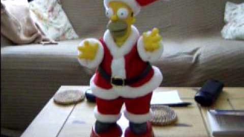 Dancing Santa Homer (Gemmy item!)
