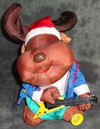 Gemmy animated santa mosse rock and roll blues