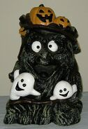 Vintage Halloween 9'' GEMMY ANIMATED MUSICAL RUBBER BLOW MOLD MOTIONETTE