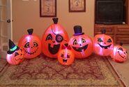 Gemmy Prototype Halloween Pumpkin Patch Inflatable Airblown