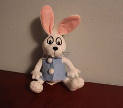Gemmy Rankin Bass HERE COMES PETER COTTONTAIL Plush Toy 10'' Stuffed Animal
