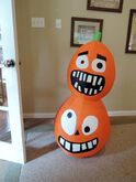 Gemmy inflatable goofy pumpkin stack