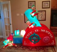 Gemmy Prototype Christmas Toy-O-Matic Inflatable Airblown