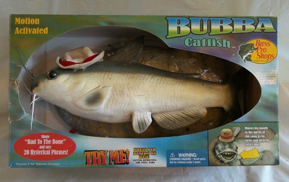 Image gemmy cool bubba catfish talking singing fish for Talking bass fish