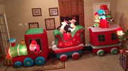 Gemmy Prototype Christmas Train Inflatable Airblown