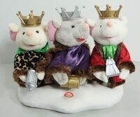 RARE Gemmy We Three Kings Animated Singing Mice Trio Blinking Lights