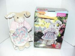 Animated rocking chair easter bunny