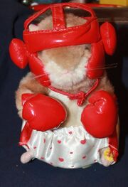 2003 Gemmy Dancing Hamster Love Punch Boxer Sings What Is Love- Works