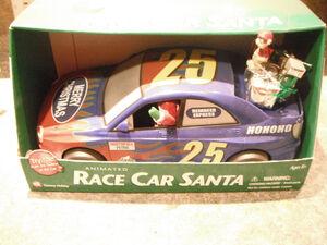 Gemmy Holiday Race Car Santa And Elf - Animated -25 - Nascar