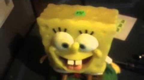 Animated spongebob in action