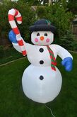 GEMMY Snowman With Candy Cane Christmas 8 Foot Airblown Yard Inflatable 2002