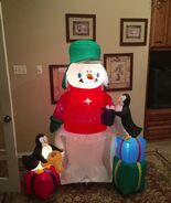 Gemmy Prototype Christmas Just Chillin' Inflatable Airblown