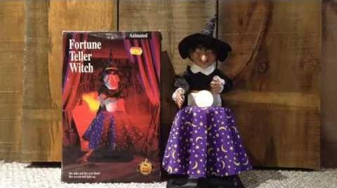 Gemmy animated Fortune Teller Witch