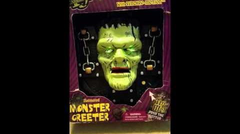 Gemmy monster plaque in the box