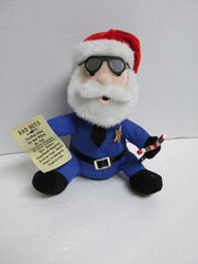 GEMMY ANIMATED SANTA COP POLICE OFFICER SINGS BAD BOYS