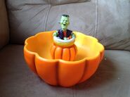 Gemmy halloween animated spinning monster in pumpkin candy bowl