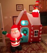 Gemmy Prototype Christmas Gingerbread House Inflatable Airblown
