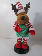 Gemmy Christmas Reindeer Animated Plays Shake Your Booty Dancing Spins 19''