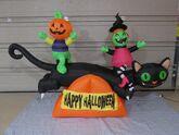 Gemmy PROTOTYPE Airblown Inflatable Halloween Cat Teeter Totter