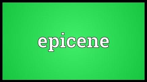 Epicene Meaning
