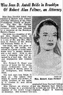Feltner-Antell marriage 1956