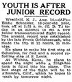 AP 1930August14 Youth is after junior record.jpg