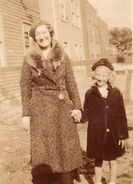Maria Elisabeth Winblad and Helen Eloise Freudenberg on Claremont Avenue in Jersey City, New Jersey in 1935