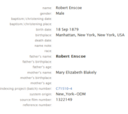 Ensko-Robert 1879 birth